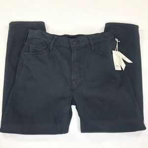 Mother The Dropout Cropped Denim Black Size 29